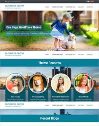 One Page Business Website Template 38 One Page Website Themes