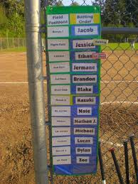 Awesome Idea For Baseball T Ball Dugout Organization