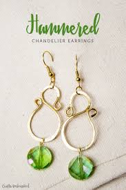 hammered diy chandelier earrings
