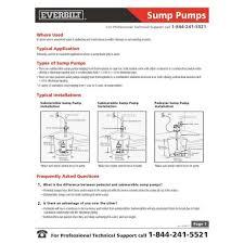 everbilt 3 4 hp professional sump pump pssp07501vd the home depot