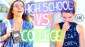 going back to high school vs college