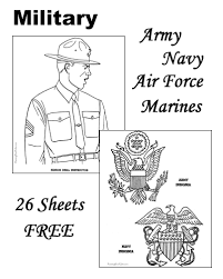Small Picture Military coloring pages Army Navy Air Force Marines