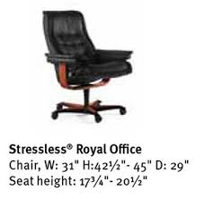 royal comfort office chair royal. Stressless Royal Office Desk Chair Dimensions Comfort