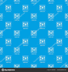 Bubble Chart Pattern Vector Seamless Blue Stock Vector