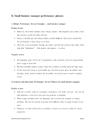 job performance evaluation form page 8 ii small business manager small business manager job description