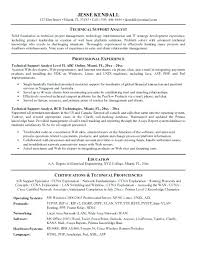 technical support resume objective examples call center cover letter tech