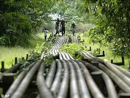 Wikileaks office Headquarters Lucrative Youths Walk Across Shellowned Pipeline In Nigeria Where An Executive Claimed The Daily Mail Wikileaks Oil Giant Shell more Powerful Than Nigerian Government
