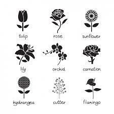 花のアイコン集 ベクター画像 無料ダウンロード