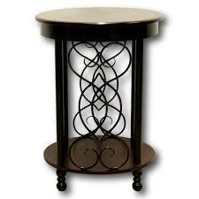 Cherry accent table Round Accent Darkcherrymetalaccenttable82711ajpg Upscale Consignment Dark Cherry Metal Accent Table Upscale Consignment