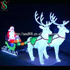 unique reindeer and sleigh outdoor lights and outdoor led lighted sleigh decoration 48 large reindeer and
