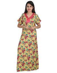 Long Nighty Design Large Size Sleepwears Nightwears For Women Online Low