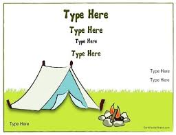 Camp Award Certificate Template Summer Awards Templates Definition ...