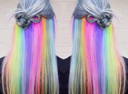 Ich würde mir die haare gerne im regenbogenlook färben aber ich weiß nicht recht wie. Rainbow Underlights Jetzt Tragt Man Die Haare Als Regenbogen Starzip