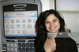 Melonie Diaz at the BlackBerry 8700c at ...