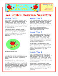 Newletter Example Business Newsletter 4 Pages