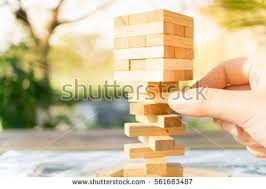 Game Played With Wooden Blocks Wood Blocks Stack Game Using Background Stock Photo 100 22