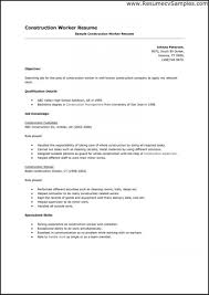 Resume Template Construction Worker Fresh Resume Template