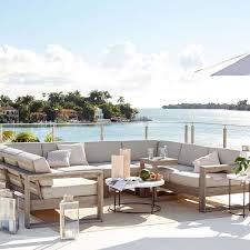 Image Mesthete Build Your Own Portside Outdoor Sectional Weathered Gray West Elm Build Your Own Portside Outdoor Sectional Weathered Gray West Elm