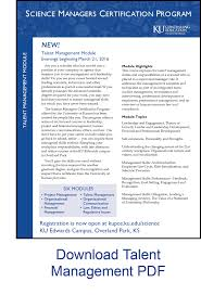 science managers certification program professional continuing talent management flyer