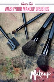 how to properly wash makeup brushes