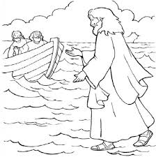 Jesus Walks Water Coloring Page Ahmedmagdy Cool Coloring Pages