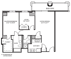 the highlight of this unit would be the additional study measuring 9 8 x8 9 with an additional closet this floor plan is perfect for our residents seeking