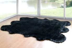 home design sheepskin runner faux fur area rug like shape black contemporary novelty rugs by glamour