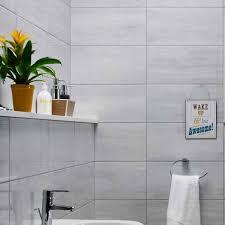 at white tile panel kit lmm departments u b and q bathroom design service  white tile panel