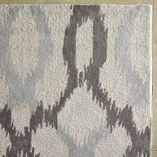 gray and brown rug links wool rug frost gray west elm