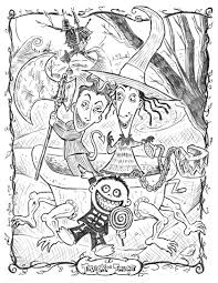Character Coloring Pages The Nightmare Before Christmas Love Best