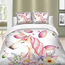 details about unicorn bedding set twin full queen king super king duvet cover pillow cases