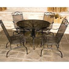 wrought iron patio dining set outdoor sets windy