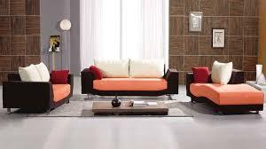 fabric sofa set. Contemporary White Orange Black Fabric Sofa Set TOS-LF-8522