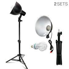 Photo Studio Lighting Kit Ebay Details About Lusana Studio 2 Pack Led Table Top Photo Lighting Kit W 50w Bulb Tripod Stand