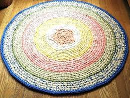 nursery area rugs neutral swan small round dreaded rug crochet kitchen at