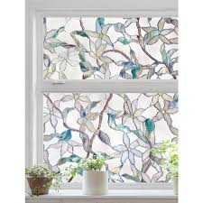 artscape jasmine 24 in w x 36 in l textured stained glass privacy decorative window