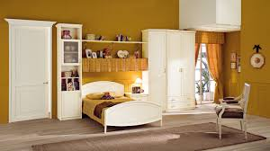 Lovely Wonderful Mustard Kids Bedroom Interior