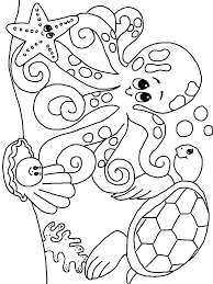Sea Animals Coloring Pages For Toddlers With Childrens Animal