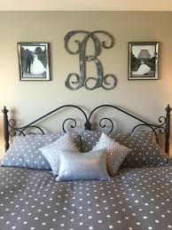 Master Bedroom Art Above Bed Idea For Above The Bed In Master Bedroom Monogram And Picture
