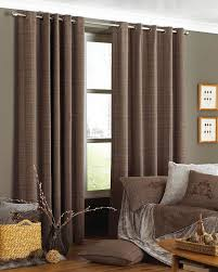 courcheval ready made eyelet curtains brown check cushions uk delivery