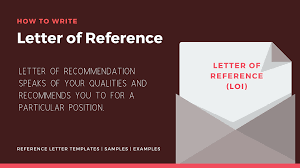 Letter Of Reference Lor Sample Template And Examples