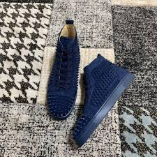 Dhgate Shoe Size Chart Latest High Top Navy Suede Leather Luxury Fashion Flat Low Heel Spikes Real Leather Shoes For Couple Boys And Girls