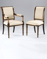 chairs regency upholstered chairs regency style chairs in black finish with antique gold