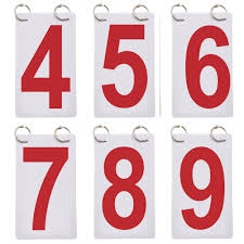 Gogo 6 Sets Score Reporter Number Flip Chart For Scoreboard