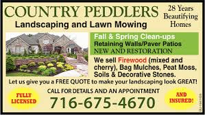 Lawn Mowing Ads 28 Years Beautifying Homes Country Peddlers Landscaping And