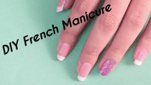 DIY / French Manicure / Nail Art / Scotch Tape Method - YouTube