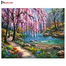 HUACAN <b>Diamond</b> Painting Landscape <b>Diy Full Diamond</b> ...