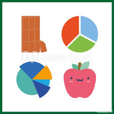 4 Piece Pie Chart 4 Piece Icon Vector Illustration Piece Set Chocolate And