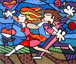 Romero Britto Love Blossoms Art In 2019 Pop Art Romero
