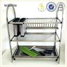 wall mounted dish rack drying stainless steel kitchen for water hanging india